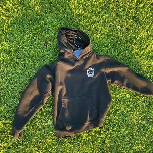 Spitfire skater hoodie Black Grunge zumiez